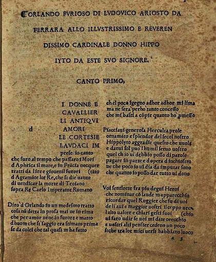 Ludovico Ariosto: 500 Jahre Orlando furioso