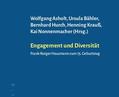 Engagement und Diversität: Beiheft 4 für Frank-Rutger Hausmann